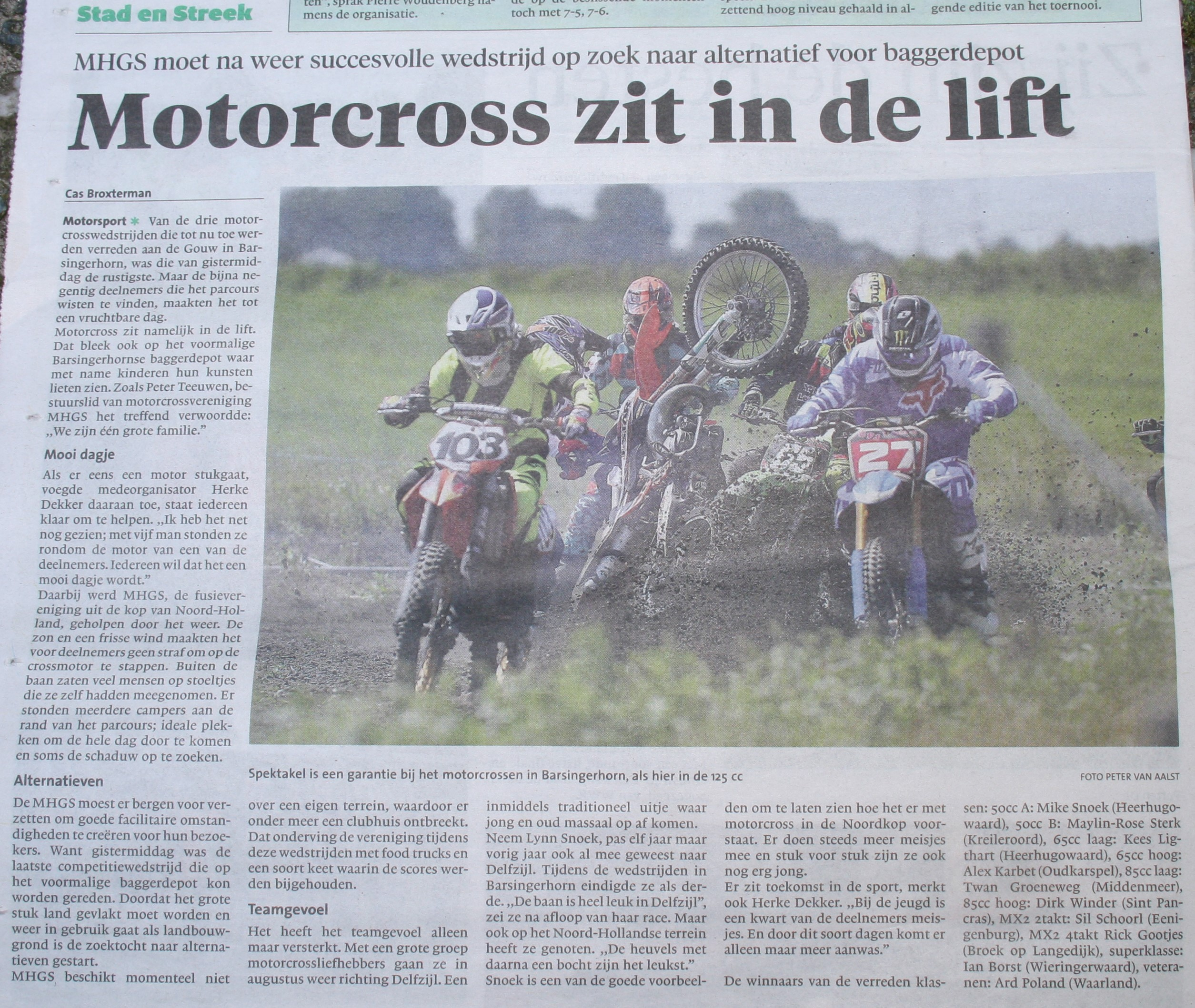 Motorcross zit in de lift - NDH 18-7-2016
